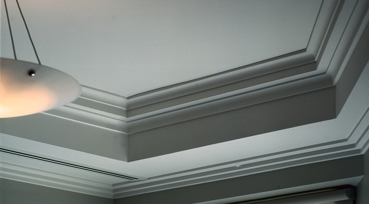 close up of joinery and lighting angle, ceiling, daylighting, daytime, light, light fixture, lighting, molding, plaster, product design, window, gray, black
