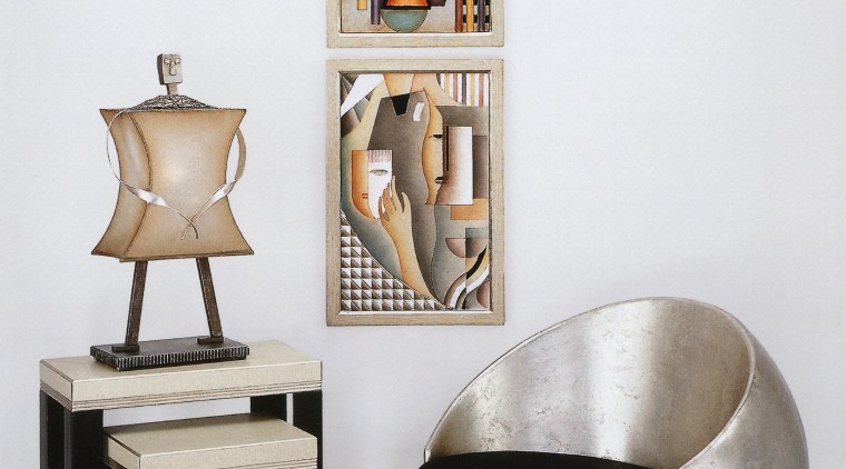 View of interior objects ceramic, chair, furniture, product design, shelf, table, white
