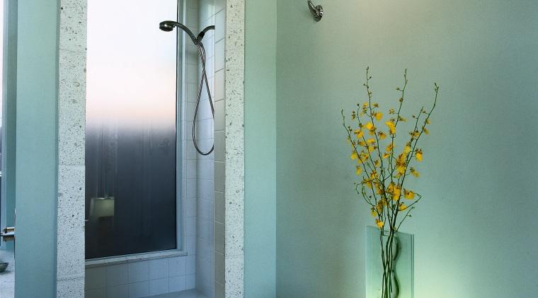Interior view of the bathroom bathroom, door, home, house, interior design, room, wall, window, green