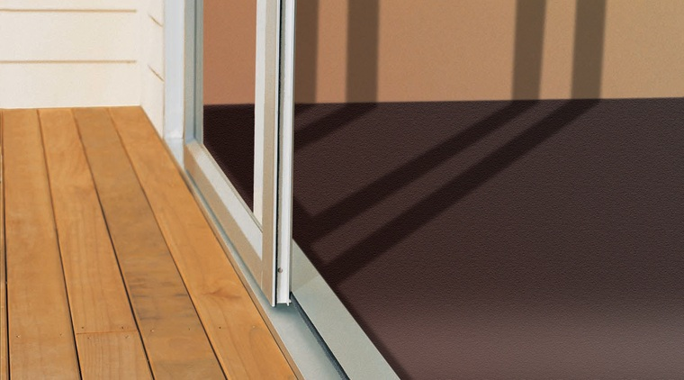 Aluminium sliding door leading from inside to outdoor door, floor, flooring, hardwood, laminate flooring, line, window, wood, wood flooring, wood stain, brown, black