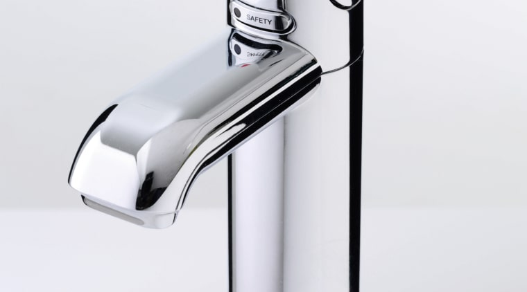 view of the stainless tap hardware, plumbing fixture, product, product design, tap, white