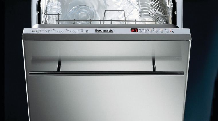 Baumatic fully integrated dishwasher. dishwasher, gas stove, home appliance, kitchen appliance, kitchen stove, major appliance, product, product design, black