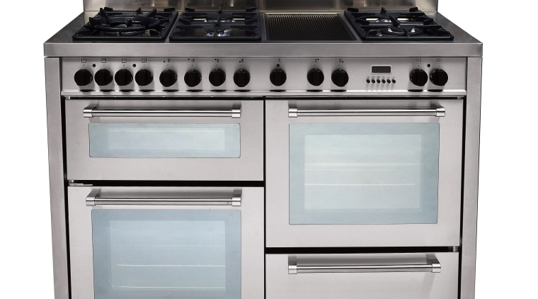view of the delonghi five burner gas oven gas stove, home appliance, kitchen appliance, kitchen stove, major appliance, oven, white, gray