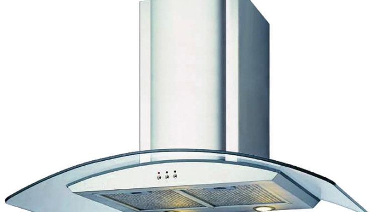 view of the rangehood product, product design, white