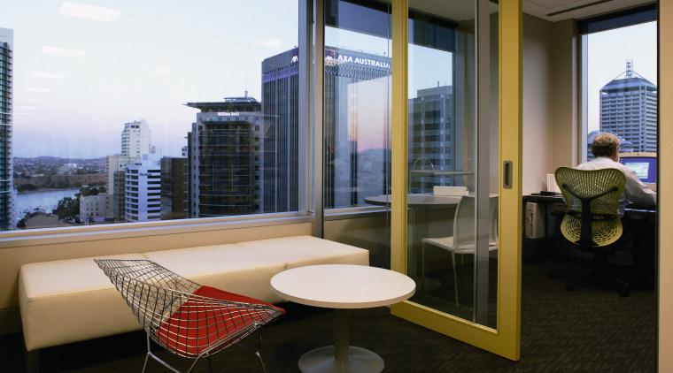 View of an individual office, carpet, large sqaure apartment, architecture, condominium, interior design, real estate, window, black