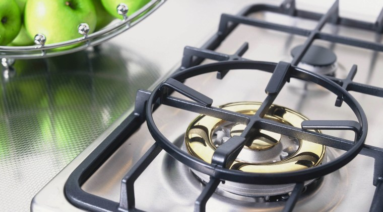 view of the ceramic gas hob product design, white, gray