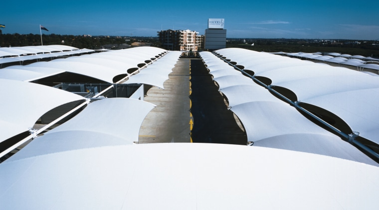 view of the all weather membrane car park fixed link, horizon, line, reflection, sky, snow, winter, white, blue