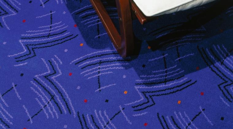 view of deep blue patterned carpet angle, area, blue, cobalt blue, design, electric blue, floor, light, line, pattern, purple, space, blue