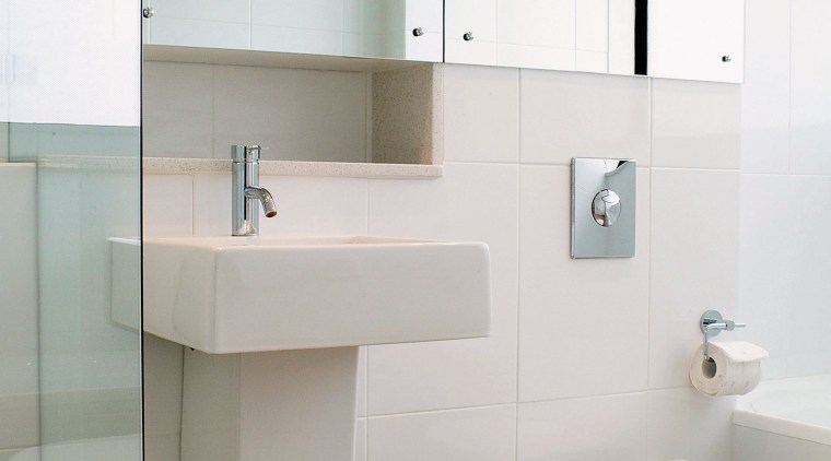 view of the bathroom area showing toile, basin bathroom, bathroom accessory, bathroom cabinet, bathroom sink, interior design, plumbing fixture, product design, room, sink, tap, white, gray
