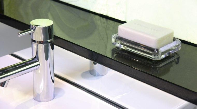 view of the quantum quartz gobi black bathroom hardware, plumbing fixture, product, product design, sink, tap, white