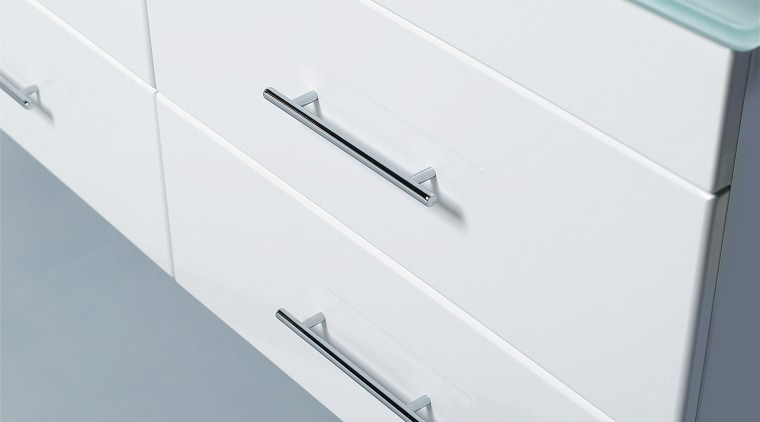 Aclose up view of some white draws with chest of drawers, drawer, furniture, product, product design, sideboard, white