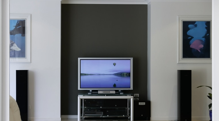 these home owners can view and control dvds floor, furniture, home appliance, interior design, living room, gray