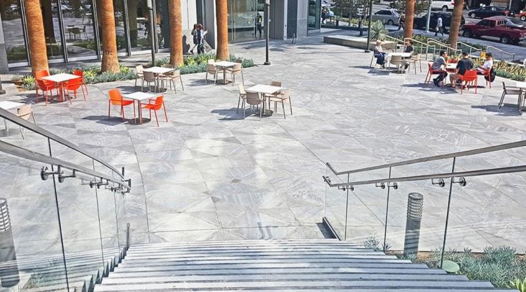 002 Incontinentalhotel - architecture | bench | chair architecture, bench, chair, floor, flooring, furniture, road surface, sidewalk, table, urban design, gray, white
