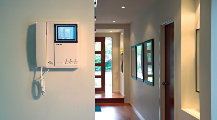 structured cabling from hills home hub offers a floor, interior design, gray