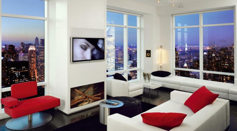 Ten foot window frames 180 degree views, the interior design, living room, real estate, room, gray