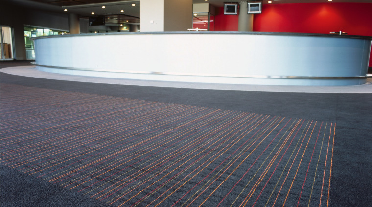 Large lobby and foyer area at the MCG architecture, carpet, daylighting, floor, flooring, line, sport venue, structure, wood, black
