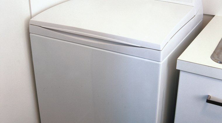 Laundry with washing machine. bathroom accessory, clothes dryer, home appliance, laundry, major appliance, product, product design, washing machine, gray, white