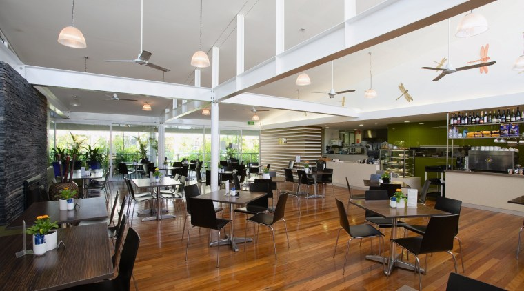 A view of the cafe. ceiling, interior design, real estate, gray, brown