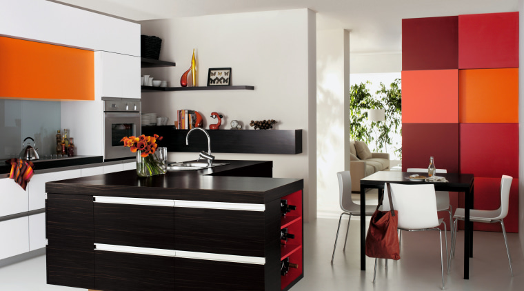 A view of some laminated benchtops. furniture, home appliance, interior design, kitchen, product design, gray