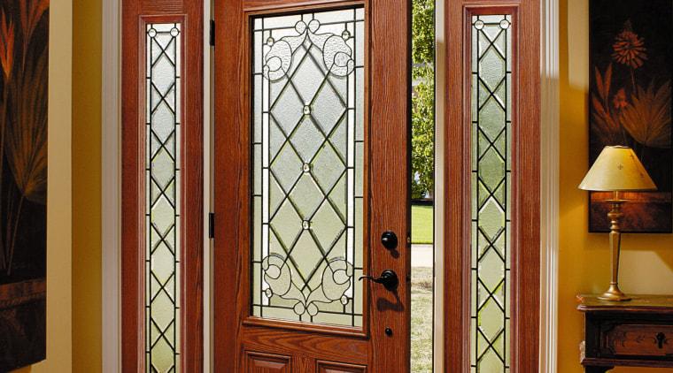 view of the is pella fibreglass entry door door, glass, hardwood, home, interior design, window, wood, brown