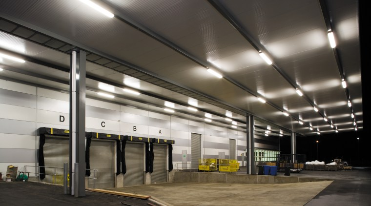 A view of the lighting in the loading airport terminal, ceiling, daylighting, lighting, metropolitan area, parking, parking lot, structure, black, gray