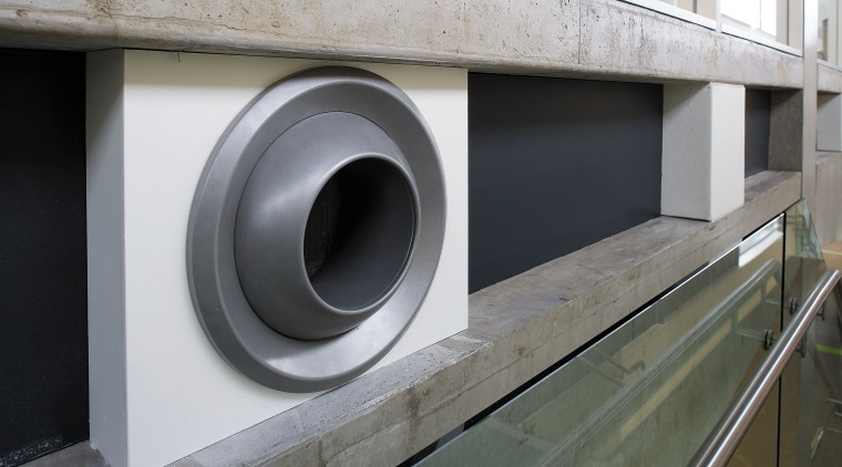 A view of the air conditioning system. product design, gray, black