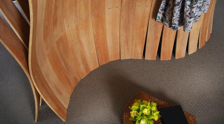 A view of some furniture from Glenn Buckley floor, flooring, furniture, hardwood, wood, wood stain, brown, black