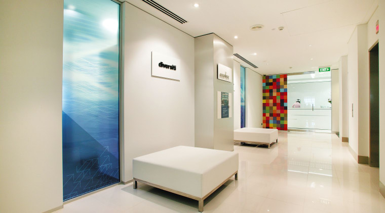 view of the lobby to the new Accenture ceiling, floor, interior design, real estate, room, white