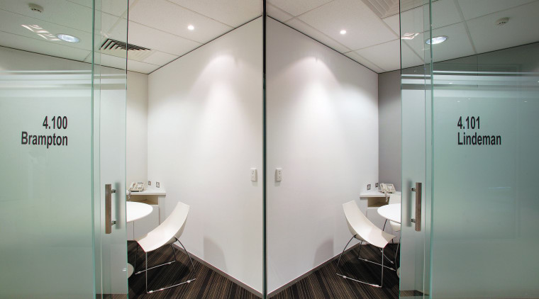 view of the private meeting rooms, carpet flooring, ceiling, glass, interior design, office, public toilet, gray
