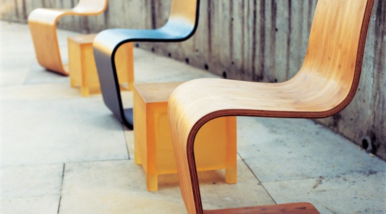 view of the natural, chrry or ebony modern chair, floor, furniture, outdoor furniture, plywood, product design, table, wood, gray, white