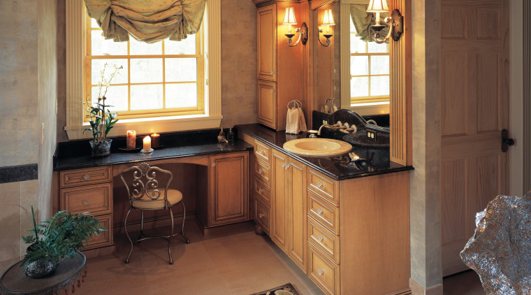 view of the bathroom featuring ARA timber cabinetry cabinetry, countertop, cuisine classique, home, interior design, kitchen, room, brown