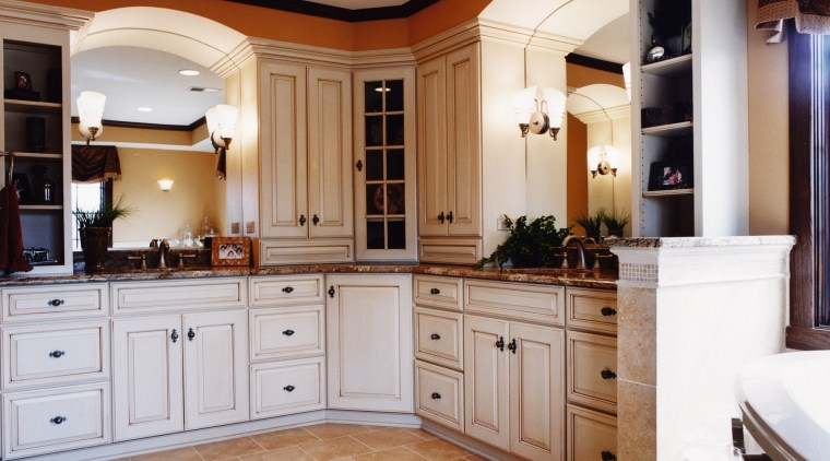 A view of a kitchen by Insignia Kitchen cabinetry, countertop, cuisine classique, furniture, home, interior design, kitchen, room, gray