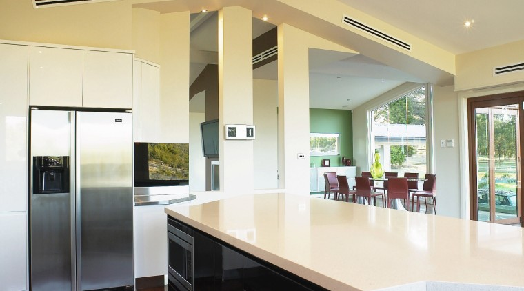 View of this Kitchen designed by Nouvelle Designer ceiling, countertop, floor, flooring, hardwood, house, interior design, kitchen, real estate, window, wood flooring, gray