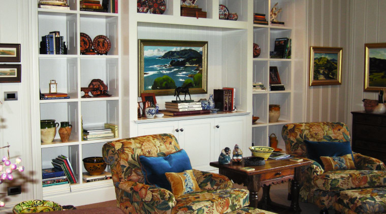 A view of some cabinetry by The Kitchen bookcase, furniture, home, interior design, living room, room, shelf, shelving, window, gray