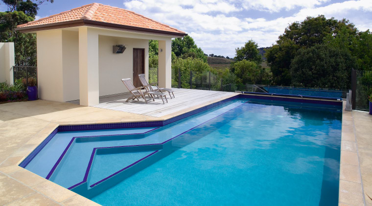 View of this concrete pool designed and manufactured estate, home, house, leisure, property, real estate, resort, swimming pool, villa, water, teal