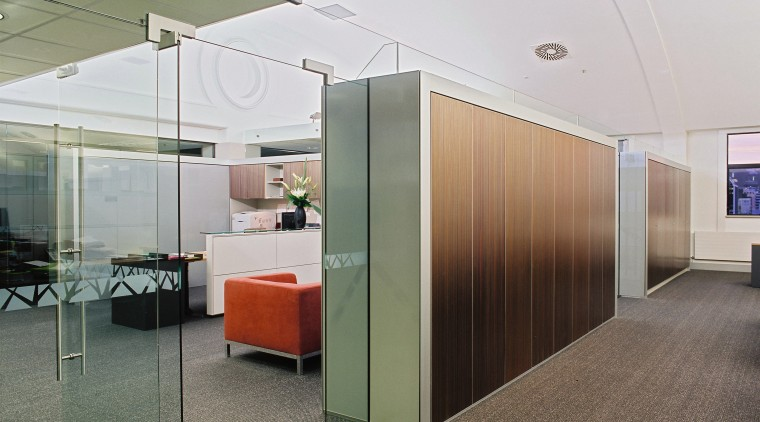 A view of the contemporary modern office space architecture, ceiling, floor, flooring, glass, interior design, lobby, office, real estate, wall, gray