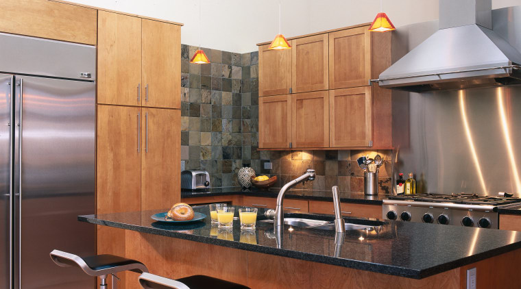 A view of this new Kitchen is enhanced cabinetry, countertop, cuisine classique, interior design, kitchen, white, brown