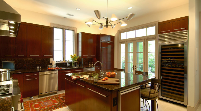 A view of some kitchen cabinetry by Best cabinetry, ceiling, countertop, cuisine classique, interior design, kitchen, real estate, room, brown, orange