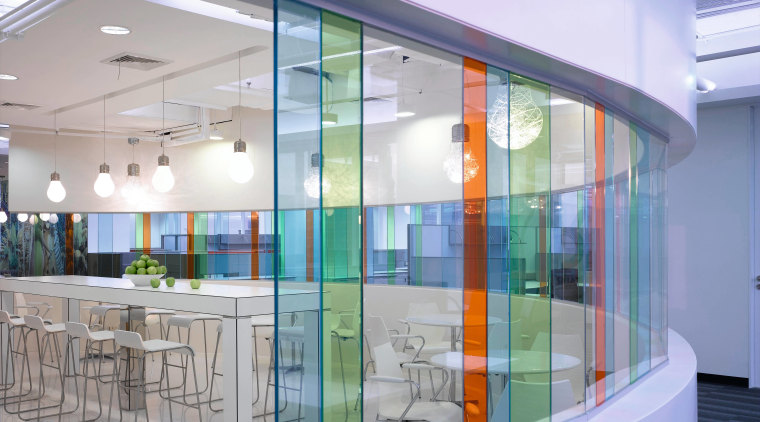 a view of the staff cafeteria and breakout daylighting, glass, interior design, window, gray, teal
