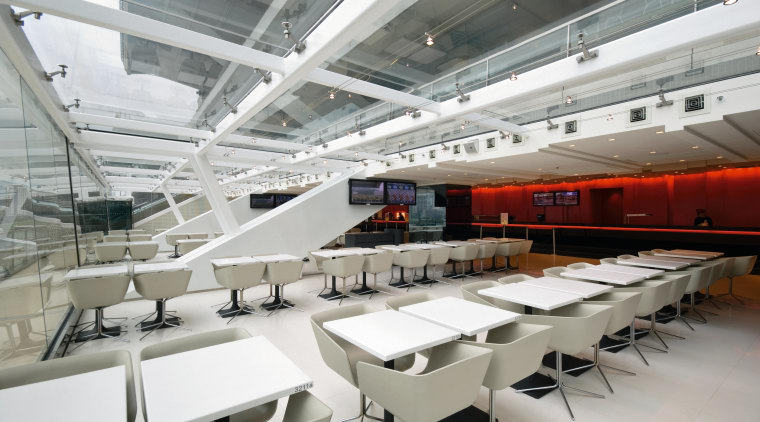 A view of the funstion centre, Tiled flooring, architecture, interior design, gray, white