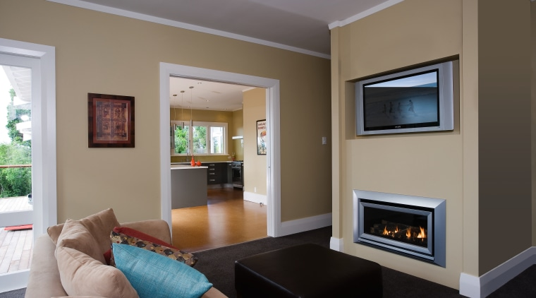 A view of this living area featuring an ceiling, hearth, home, interior design, living room, real estate, room, gray