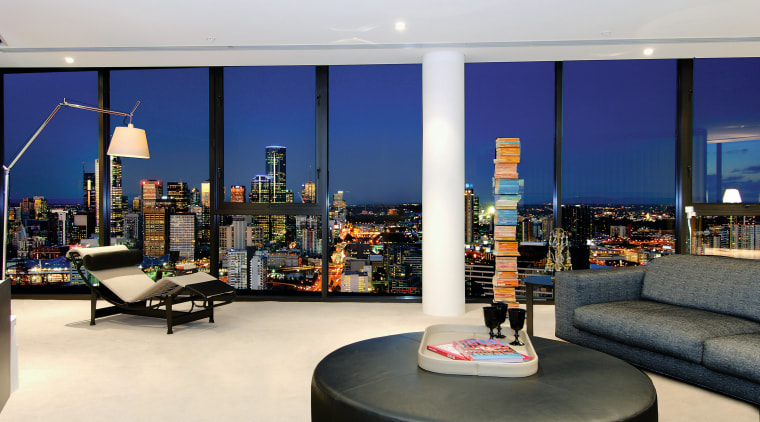 Apartments are designed to maximise the city and interior design, white