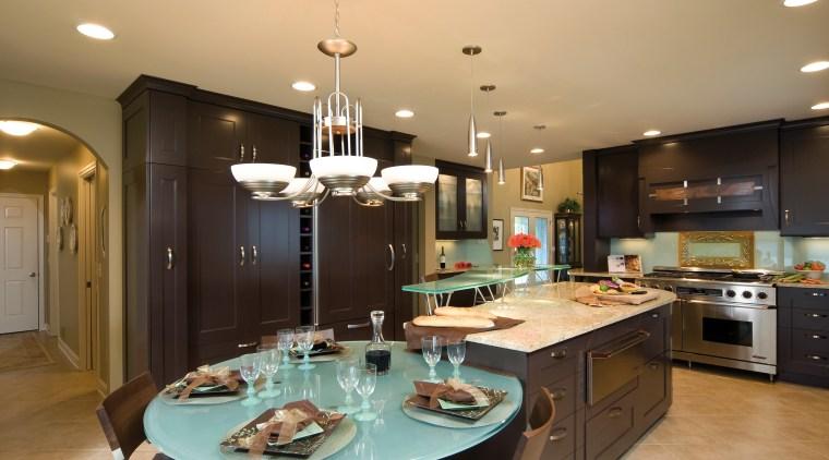 NKBA designer Brigitte Fabi, CKD CBD, of BCV countertop, cuisine classique, interior design, kitchen, room, orange, brown