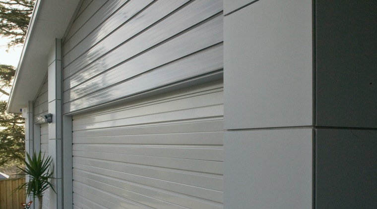 A view of some cladding from Ullrich Aluminium. architecture, building, daylighting, door, facade, house, real estate, siding, wall, window, gray, black