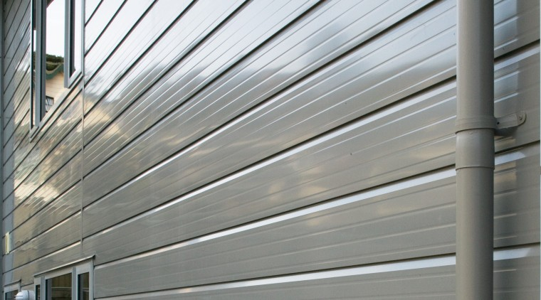 A view of some cladding from Ullrich Aluminium. daylighting, facade, house, line, siding, structure, wall, window, gray, white