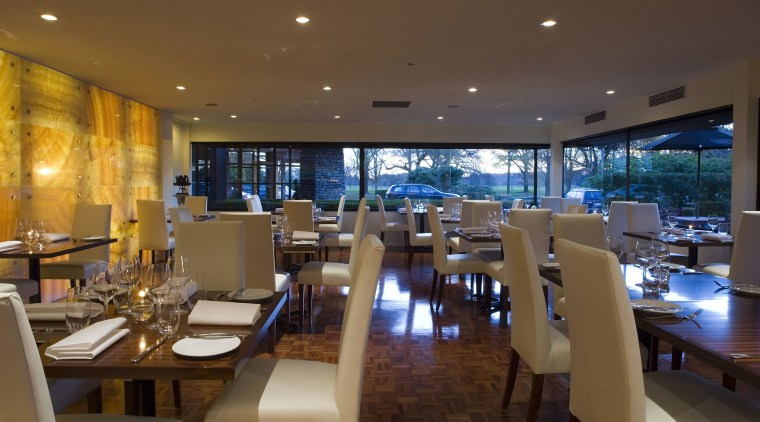 A view of the revamped hotel lounge bar interior design, restaurant, brown