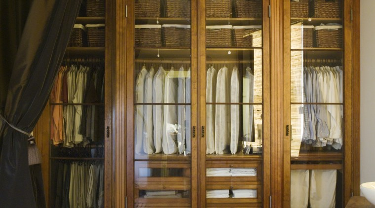 a view of this closet  constructed out cabinetry, ceiling, door, floor, flooring, furniture, hardwood, home, interior design, room, window, wood, wood flooring, wood stain, brown