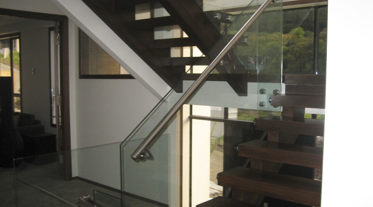 A view of some gazing by New Bright daylighting, glass, handrail, house, interior design, stairs, black