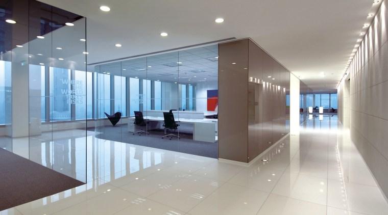Interior view of Lloyd's Reinsurance Co. featuring stone apartment, architecture, ceiling, condominium, daylighting, interior design, leisure centre, lobby, real estate, gray