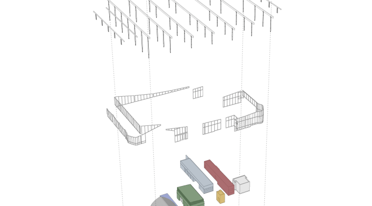 View of the Ballard Library and Neighborhood Service line, product, product design, white